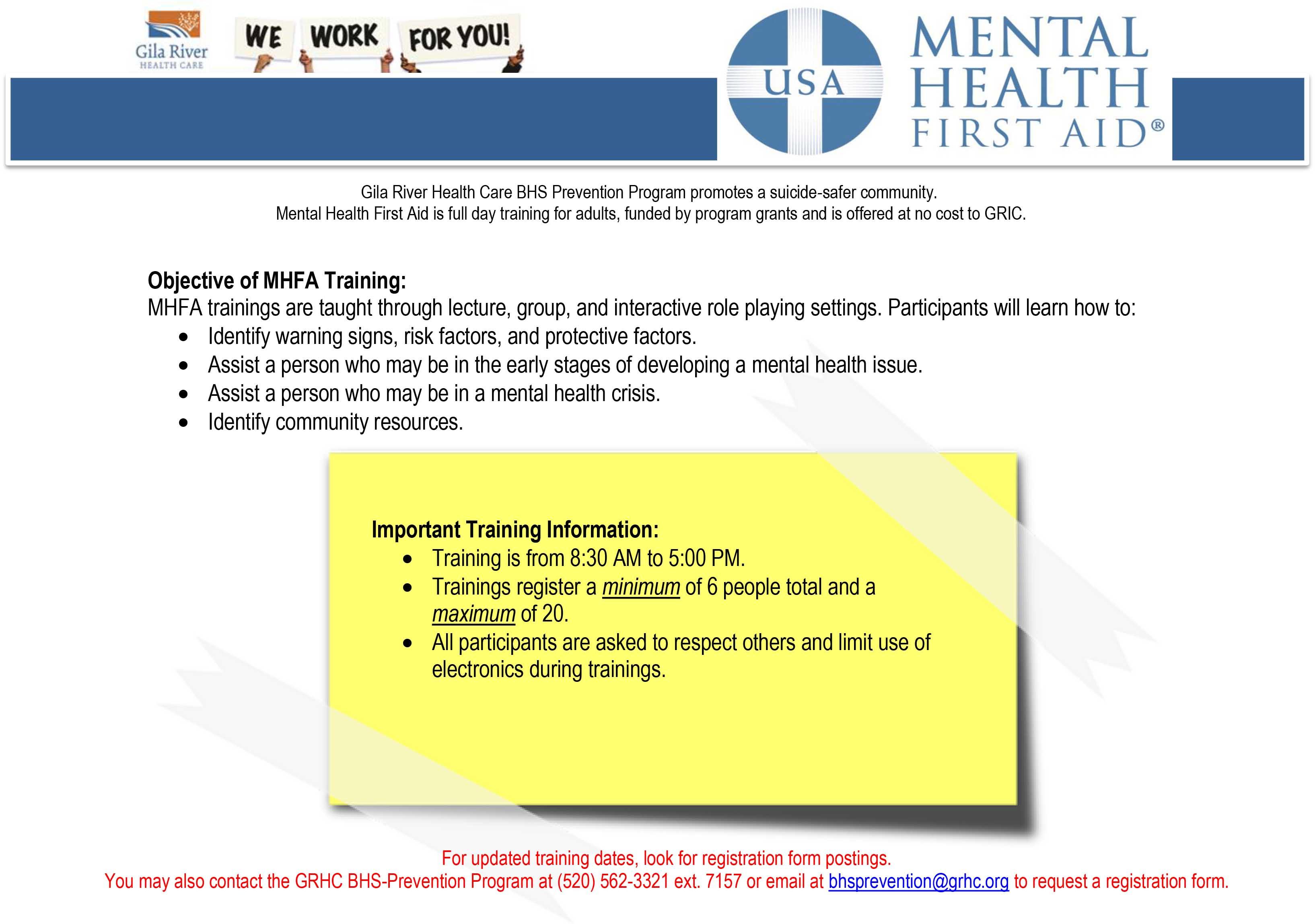 MHFA General Info Flyer