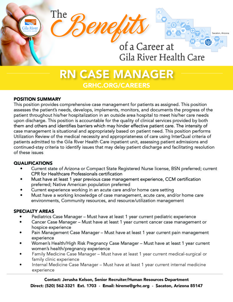 Rn Case Manager Gila River Health Care