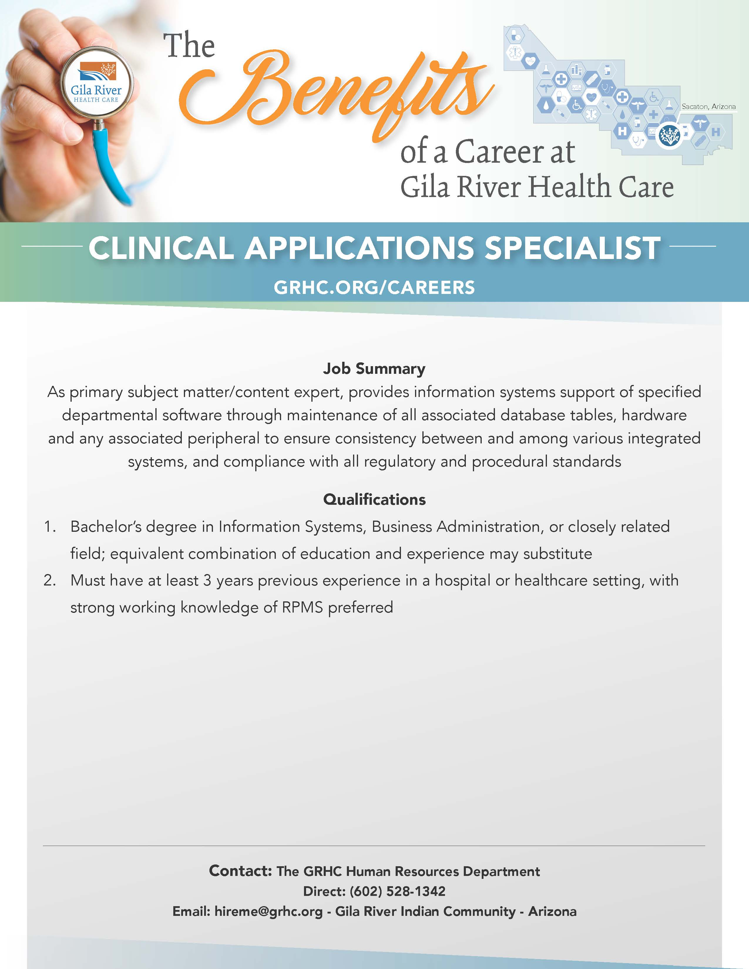 CLINICAL APPLICATIONS SPECIALIST