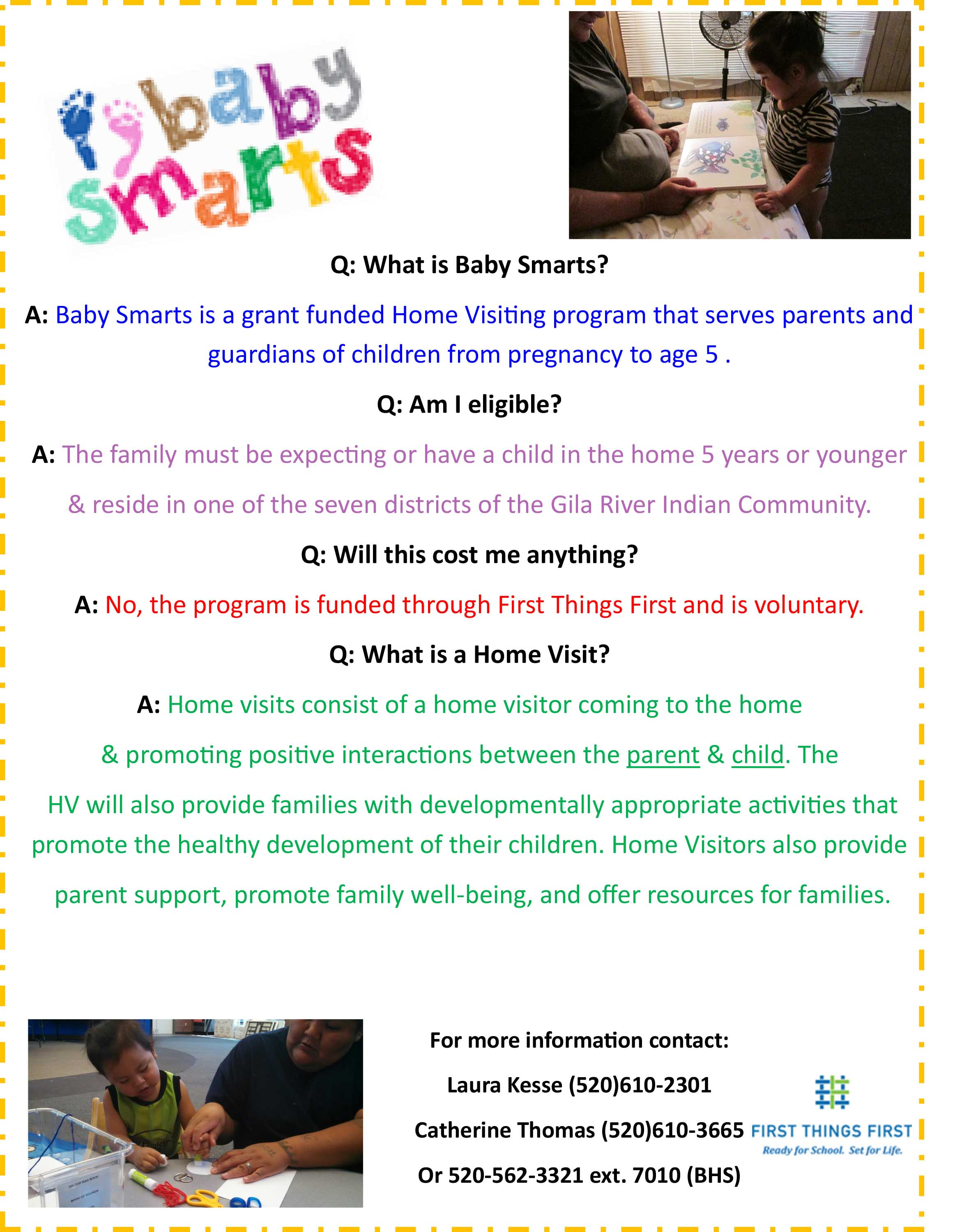 Baby Smarts Promotion Flyer 2016