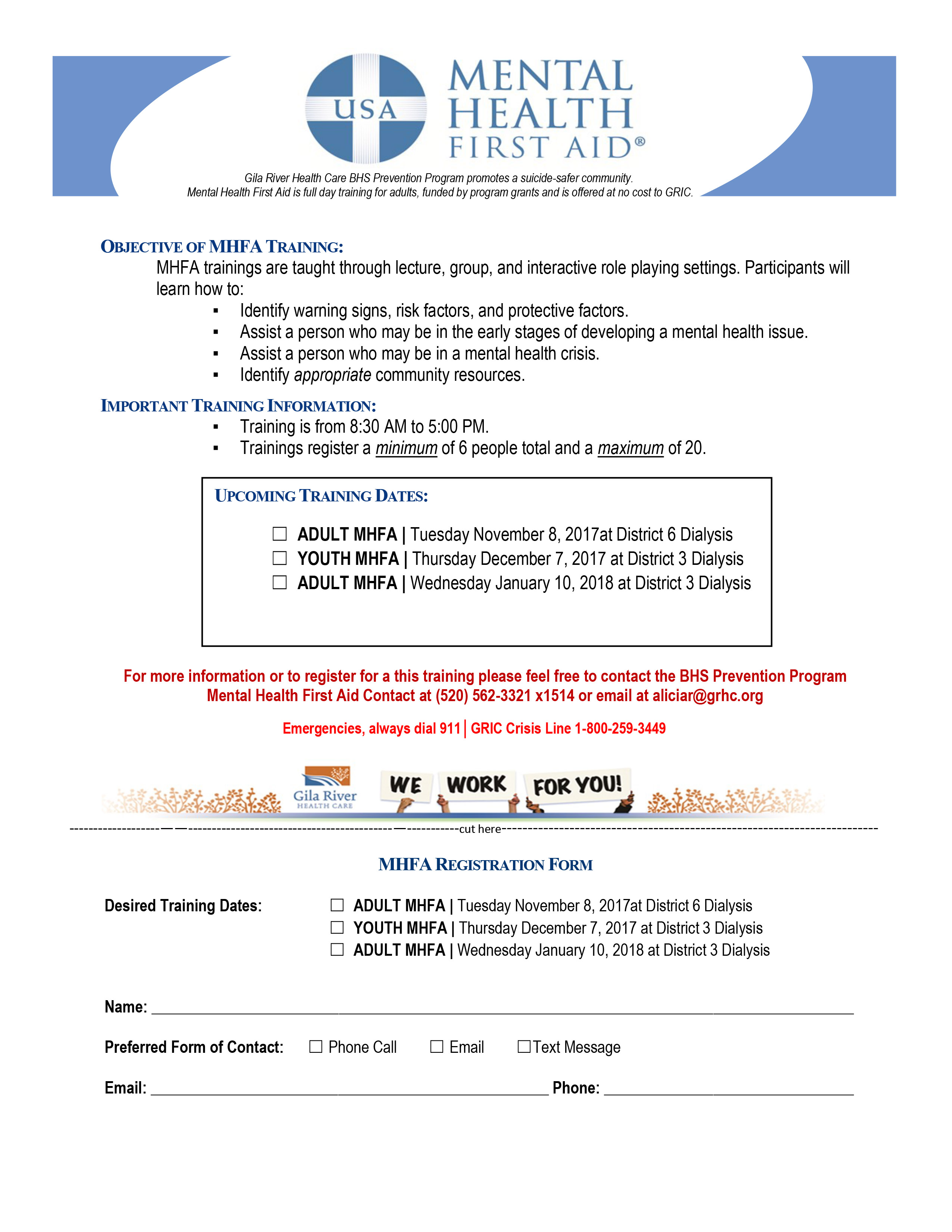 MHFA REGISTRATION FORM